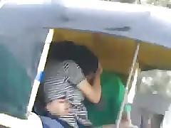 desi kissing at hand buggy rickshaw