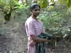 Indian girl fucking in forest  -
