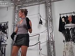 Nasty fat whore gets the brush chubby irritant spanked