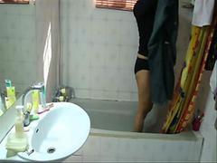 my sis bathing1