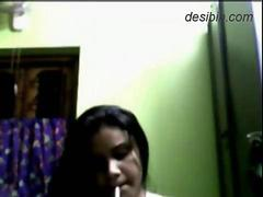 MMS video be useful to Bengali lass smoking and stripping down exposing full nude come up