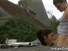 Indian Girl Foreigner Britain Having Game Outside