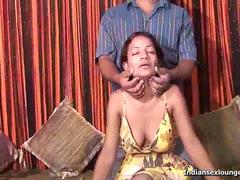 Indian Teen Nelo gets her big knockers suckled