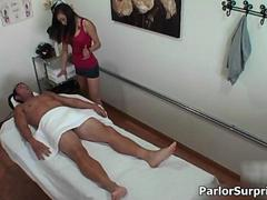 Gorgeous massager gets roasting in a little while