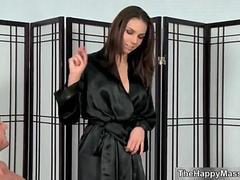 Nasty brunette floozy from massage-parlor integument 2