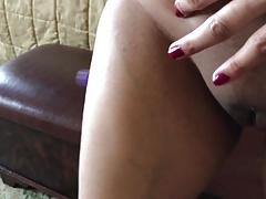 Cumming in desi Indian wife's pantie and blunt kickshaw step
