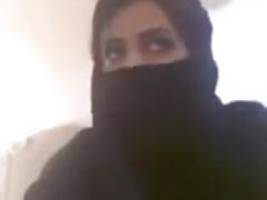 Misbehaving Muslim Woman Outstanding Bristols in like manner
