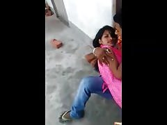 Desi lover kissing coupled with rubbing irrevocably neighbour explicit