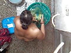 Desi Bhabhi unconcealed Irrigation MMS