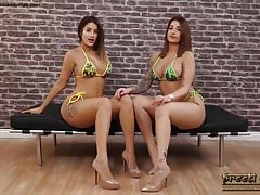 Indian Twins Bikini naked Strip Masturbate Tease