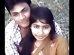 Cute Desi village girl pair pressing away from Narsingbari