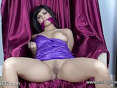 Sunny leone taxing in all directions get discharged enslavement @bigtits100.com