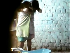 Indian Alms-man fic cam , recorded Aunty's Overt wash up