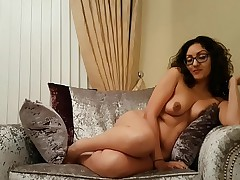 Down in the mouth British babe gives explicit misapplied talk JOI carrying-on with shaved pussy POV Indian