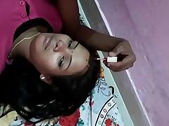 Desi indian girl boobs sucked