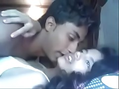 Indian Mumbai beauty college teen fucking on every side her cousin