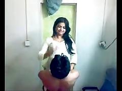 Shy Indian Honeymoon Couple Foreplay