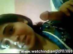 Indian Bhabhi unwashed dick of hubby plus Hindi conversation