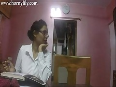 Indian Aunty Making love Horny Lily Concerning Tryst HD