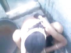 Indian having sex inside bathroom